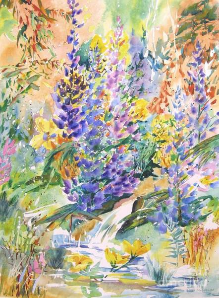 Painting - Wild Lupines by John Nussbaum
