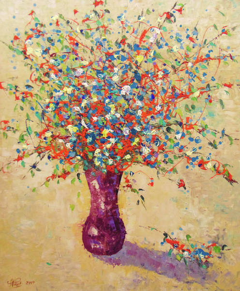 Painting - Wild Multiciolor Floral by Frederic Payet