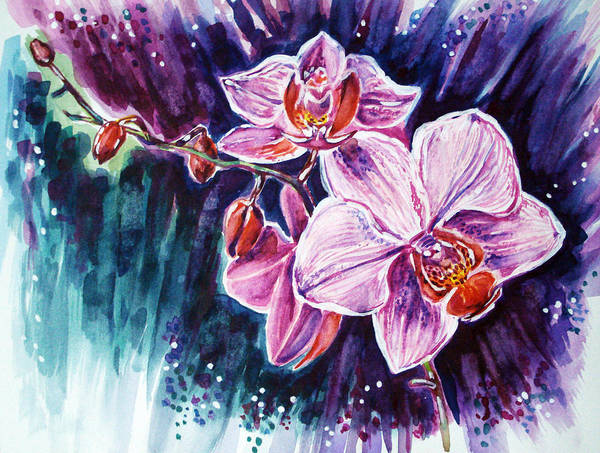Master Piece Painting - Wild Orchid by Katreen Queen