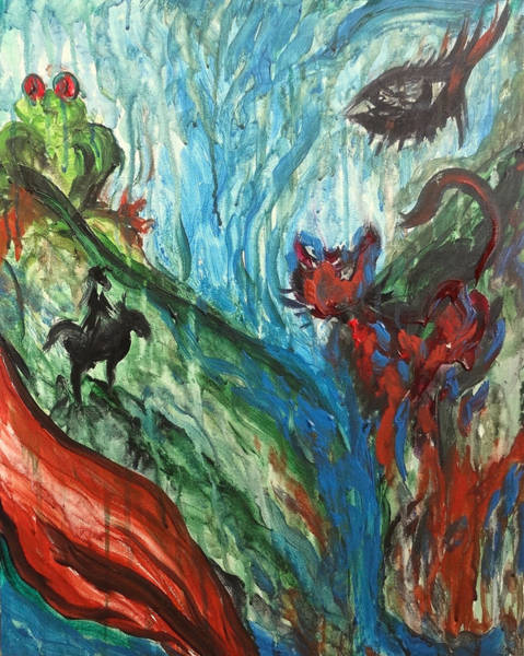 Painting - Wild Periscope Collaboration by Michelle Pier