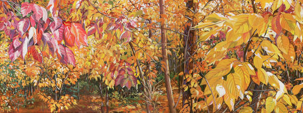 Persimmon Painting - Wild Persimmons Long by Nadi Spencer