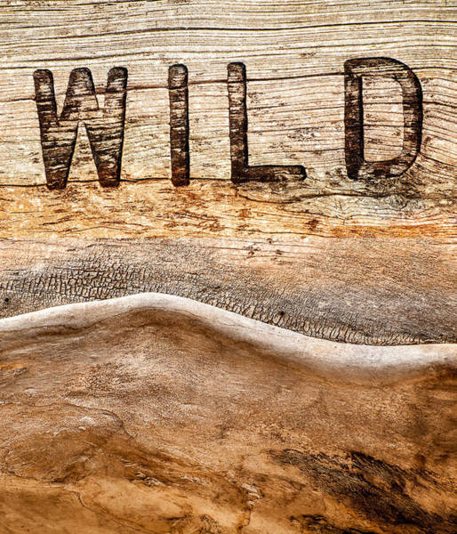 Carving Photograph - Wild by Jacky Gerritsen