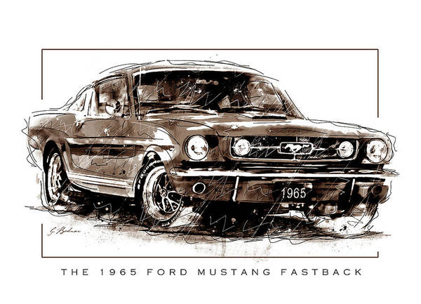 Wall Art - Digital Art - Wild Pony 65 Fastback by Gary Bodnar