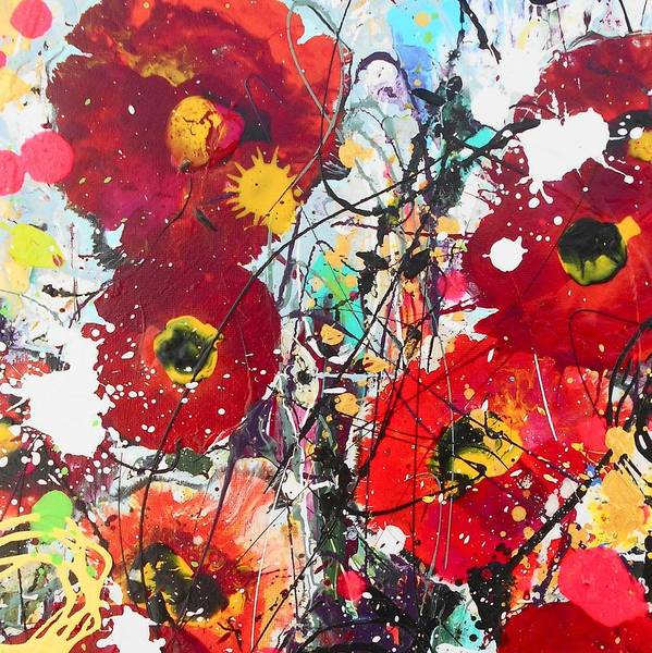 Wall Art - Painting - Wild Poppies Detail 2 by Angie Wright