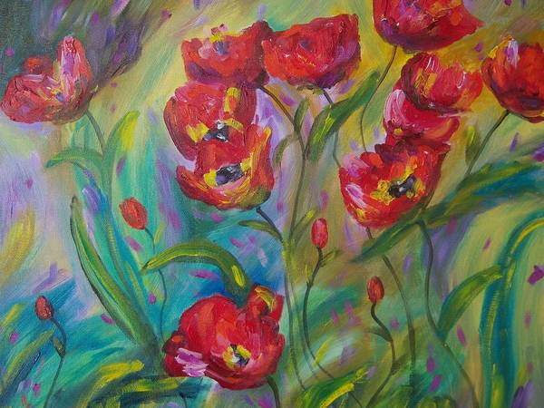 Gandy Wall Art - Painting - Wild Poppies by Renee Gandy