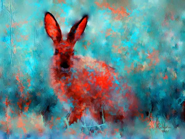 Wild Rabbit Painting - Wild Rabbit by Rosalina Atanasova