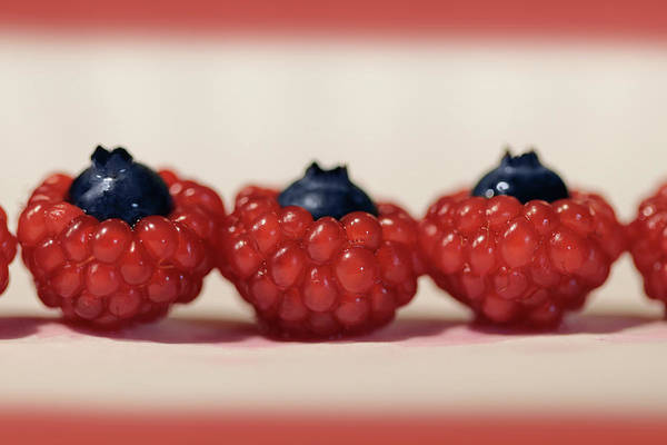 Wall Art - Photograph - Wild Red Raspberries by Lori Deiter