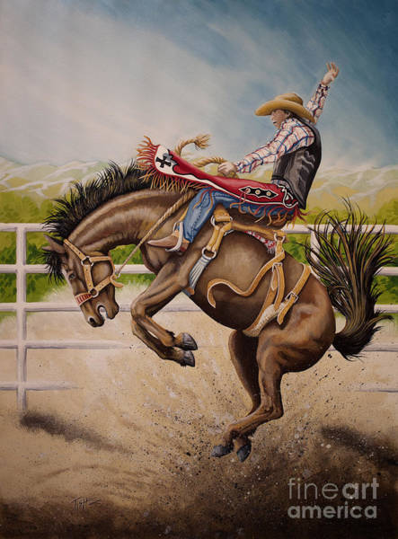 Painting - Wild Ride Bronc by Tish Wynne
