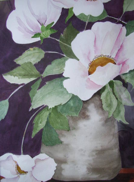 Painting - Wild Roses by Audrey Bunchkowski