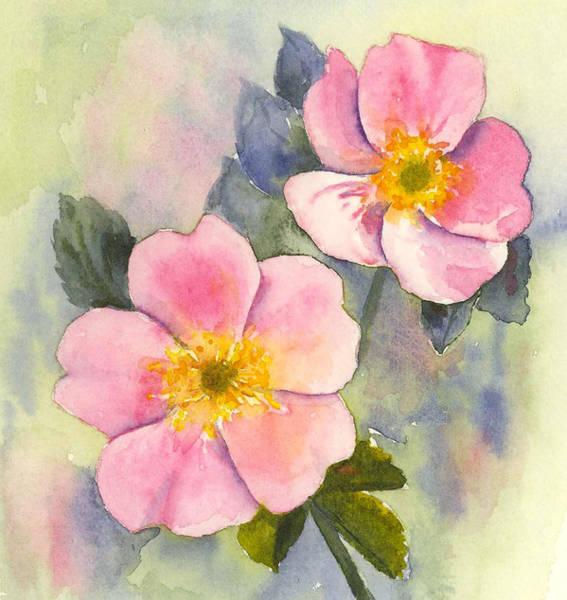 Wild Roses - Glacier Art Print