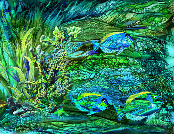 Mixed Media - Wild Sargasso Sea by Carol Cavalaris
