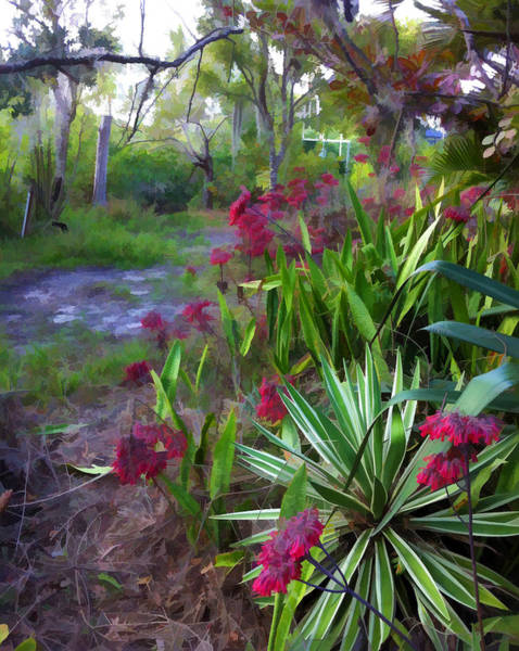 Digital Art - Wild South Florida Garden by Ginger Wakem