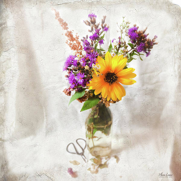 Photograph - Wild Sunflower And Wildflowers Still Life by Anna Louise