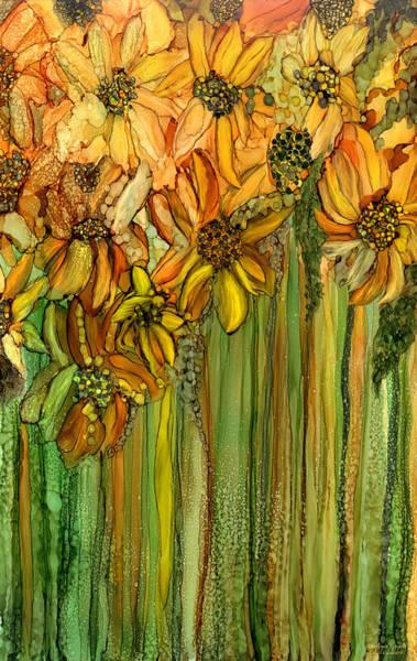 Mixed Media - Wild Sunflower Garden by Carol Cavalaris