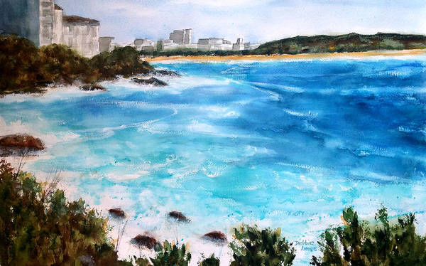 Painting - Wild Surf At Bondi Beach by Debbie Lewis