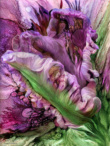 Tulips Mixed Media - Wild Tulip 2 by Carol Cavalaris