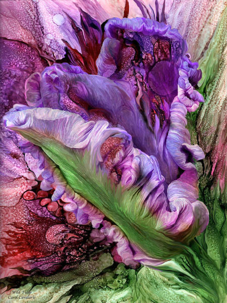 Mixed Media - Wild Tulip by Carol Cavalaris