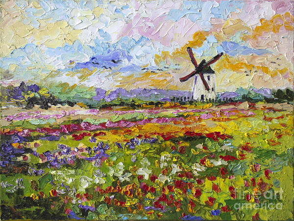 Painting - Wild Tulips Dutch Country Side by Ginette Callaway