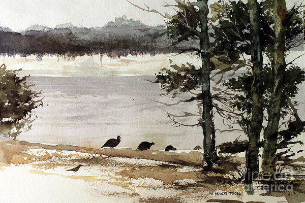 Painting - Wild Turkeys by Monte Toon