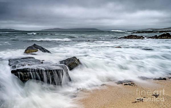 Wall Art - Photograph - Wild Weather At Geodha Mhartainn On The Isle Of Harris by Janet Burdon