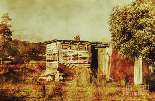 Farmhouse Photograph - Wild West Australian Barn by Jorgo Photography - Wall Art Gallery