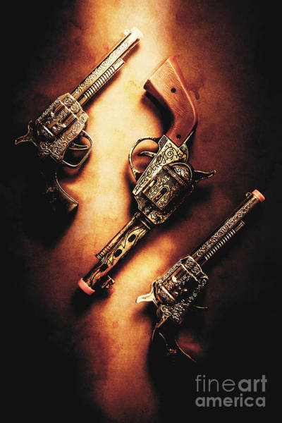 Revolver Photograph - Wild West Cap Guns by Jorgo Photography - Wall Art Gallery