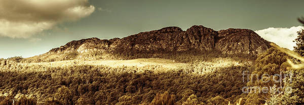 Stone Wall Photograph - Wild West Mountain Panorama by Jorgo Photography - Wall Art Gallery