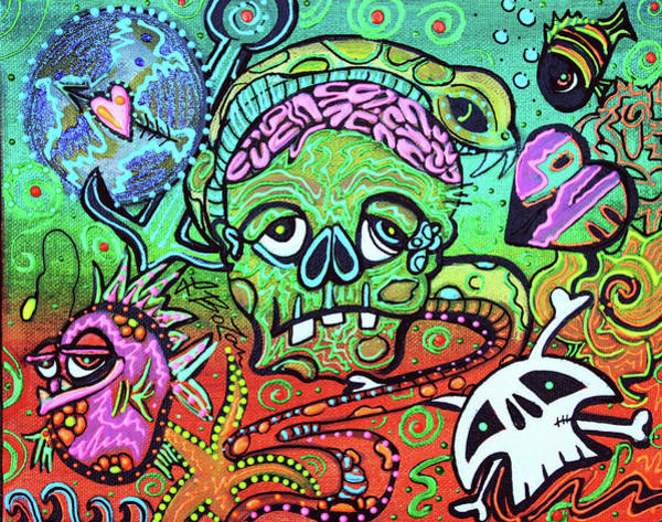 Wall Art - Painting - Wild Zombie by Laura Barbosa