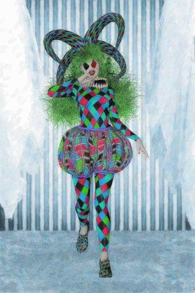 Commedia Dell Digital Art - Wildcard Woman  by Joaquin Abella
