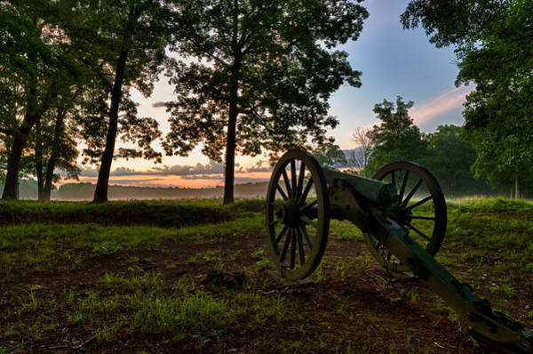 Wall Art - Photograph - Wilderness Battlefield Cannon by Lori Coleman