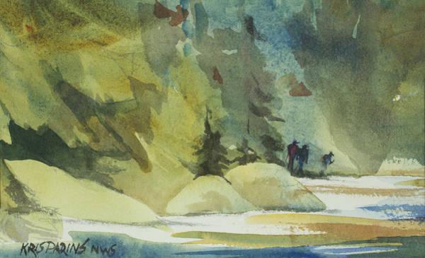 Back Painting - Wilderness Hike by Kris Parins
