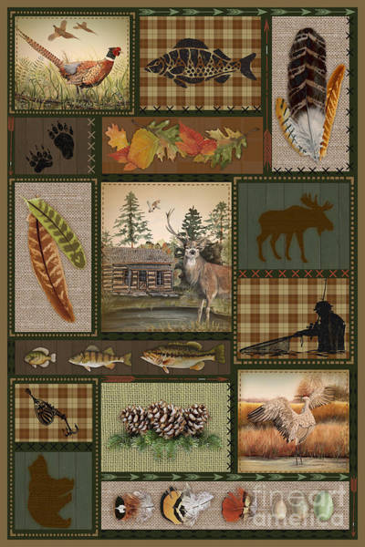 Wall Art - Painting - Wilderness Lodge-g2 by Jean Plout