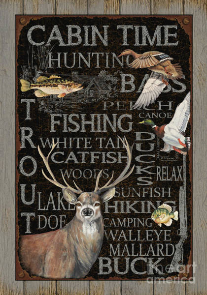 Trout Watercolor Wall Art - Painting - Wilderness Lodge-p by Jean Plout