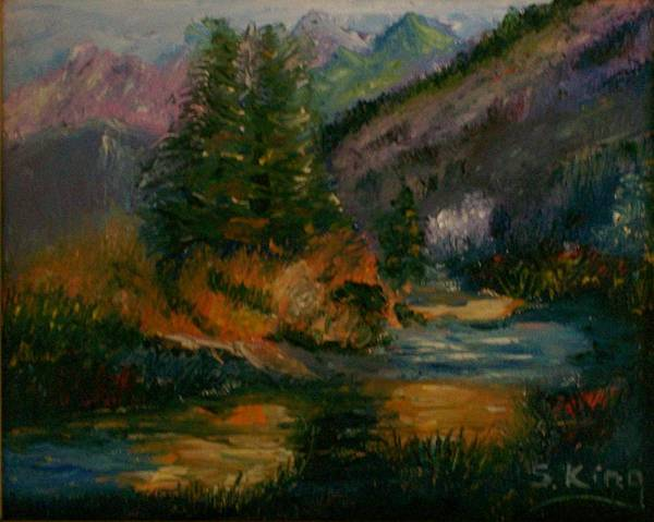 Stephen King Painting - Wilderness Stream by Stephen King