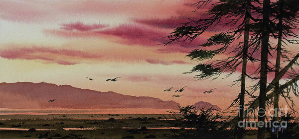 Wall Art - Painting - Wilderness Sunset by James Williamson