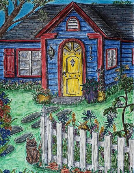 Painting - Wildflower Cottage by Kim Jones