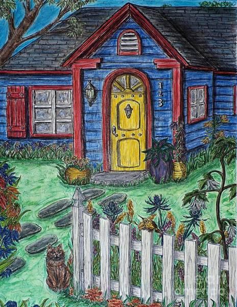 Wildflower Cottage Art Print