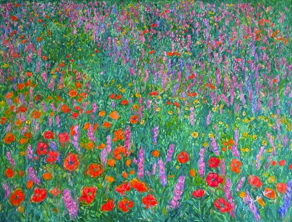 Painting - Wildflower Current by Kendall Kessler