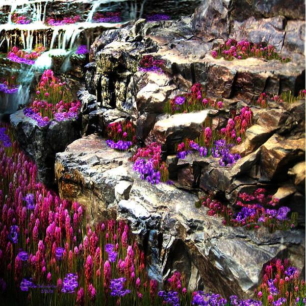 Digital Art - Wildflower Falls by Artful Oasis
