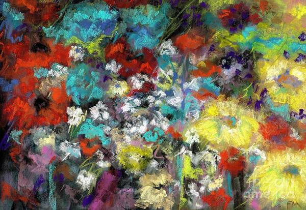 Wall Art - Painting - Wildflower Field by Frances Marino