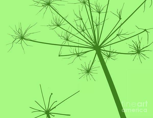 Donegal Digital Art - Wildflower Green by Eddie Barron