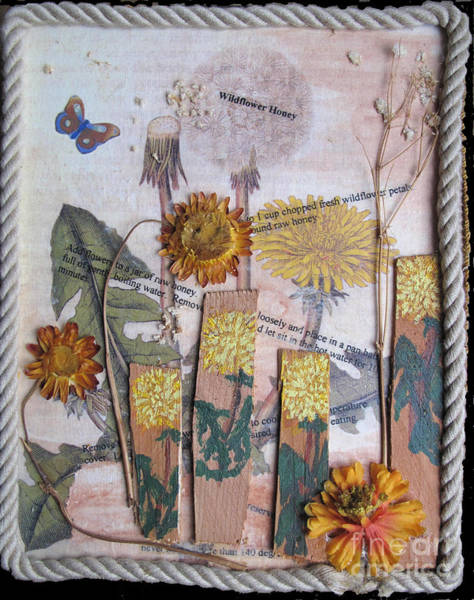 Twig Mixed Media - Wildflower Honey by Sandy McIntire