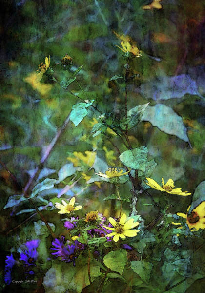 Photograph - Wildflower Impression 4859 Idp_2 by Steven Ward