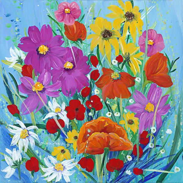 Painting - Wildflower Rainbow by Linda Rauch