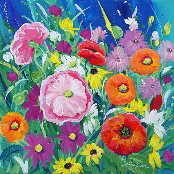 Painting - Wildflower Salsa by Linda Rauch