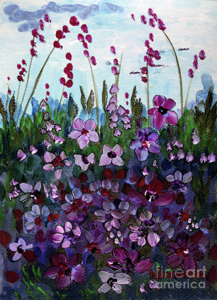 Painting - Wildflowers At Dusk by Holly Carmichael