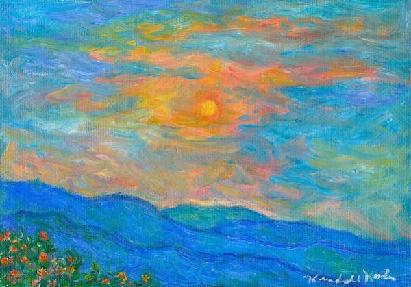 Painting - Wildflowers By A Blue Ridge Sunset by Kendall Kessler