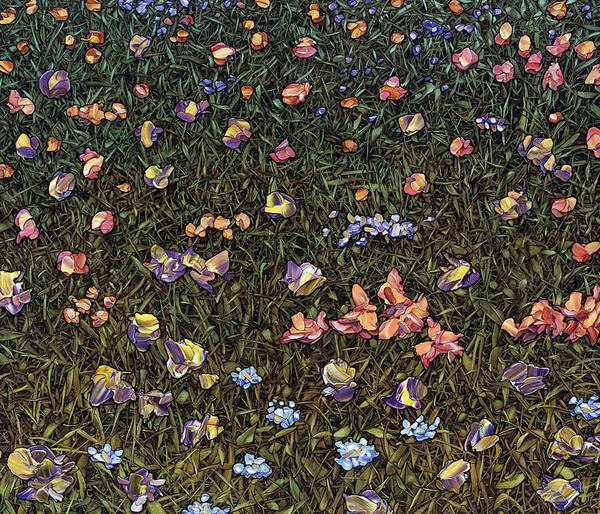 Grass Painting - Wildflowers by James W Johnson