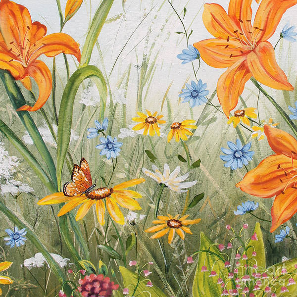 Acrylic Paints Painting - Wildflowers-jp3254 by Jean Plout