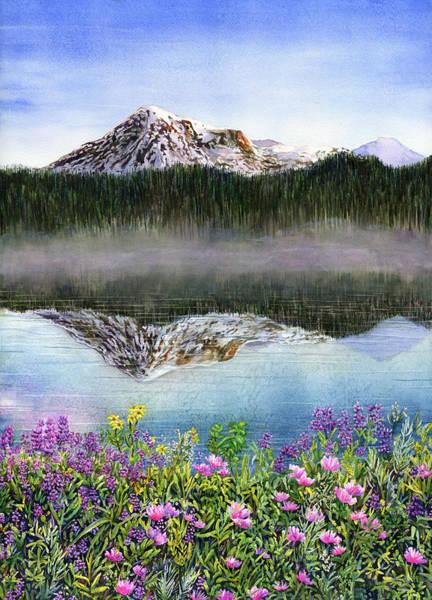 Mount Rainier Painting - Wildflowers by Karen Wright